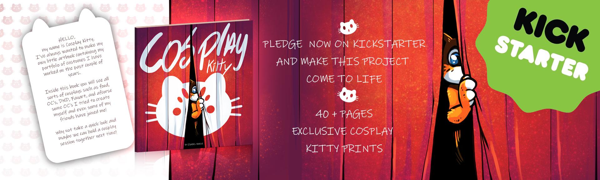 Cosplay Kitty kickstarter banner
